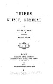 Thiers, Guizot, Rémusat