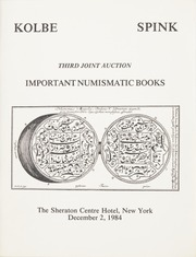 Important Numismatic Books: Third Joint Auction