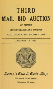 Third mail bid auction of choice United States and foreign gold, silver, and bronze coins. [01/10/1948]