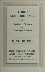 Third Mail Bid Sale of United States and Foreign Coins