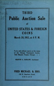 Third public auction sale of United States & foreign coins. [03/20/1912]