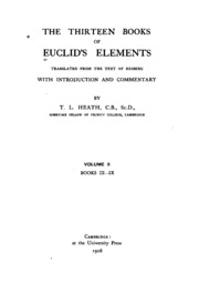 The Thirteen Books of the Elements, Vol. 2: Books 3-9 Thomas L. Heath, Euclid P