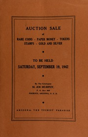 Thirteenth auction sale : catalogue of rare coins, tokens, paper money, miscellaneous gold and silver ... [09/19/1942]