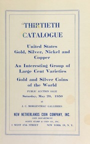 Thirtieth catalogue : United States Gold, Silver, Nickel and Copper [05/20/1950]