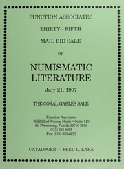 Thirty-Fifth Mail Bid Sale of Numismatic Literature