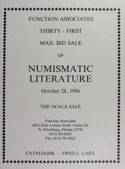 Thirty-First Mail Bid Sale of Numismatic Literature