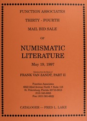 Thirty-Fourth  Mail Bid Sale of Numismatic Literature