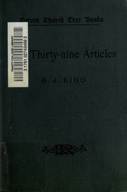 the thirty nine articles
