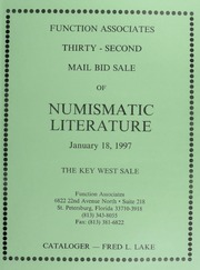Thirty-Second Mail Bid Sale of Numismatic Literature