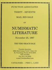 Thirty-Seventh Mail Bid Sale of Numismatic Literature