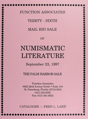 Thirty-Sixth  Mail Bid Sale of Numismatic Literature