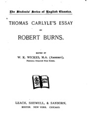thomas carlyle essays Thomas carlyle (1795-1881) though his essays and histories do not command the attention today that they did in the victorian era, the world of literature owes an.