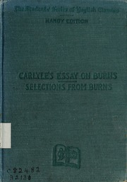 robert burns essay Find great deals on ebay for robert burns books in books on antiquarian and collectibles shop with confidence.