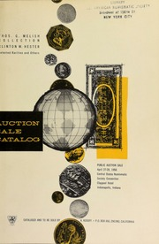 The Thomas G. Melish catalogue : including rarities from the collection of Clinton W. Hester and others. [04/27-28/1956]