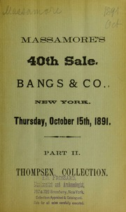 Thompson collection. Part 2. [10/15/1891]