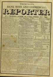 Thompson's Bank Note & Commercial Reporter