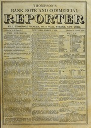 Thompson's Bank Note and Commercial Reporter, 3/1/1856