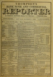 Thompson's Bank Note and Commercial Reporter, 12/1/1863