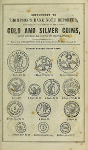 Thompson's Coin Chart Manual, Supplementary to Thompson's Bank Note Reporter