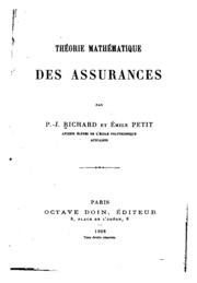 Théorie mathématique des assurances