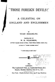 Those Foreign Devils!: A Celestial on England and Englishmen