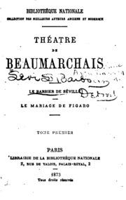 Vol 1: Théâtre de Beaumarchais
