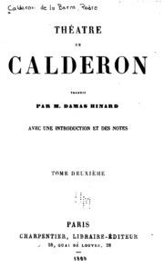 Vol 2: Théâtre de Calderon