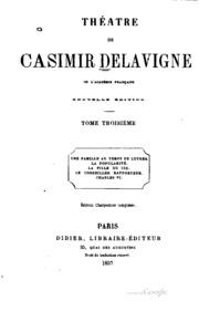 Vol 3: Théâtre de Casimir Delavigne