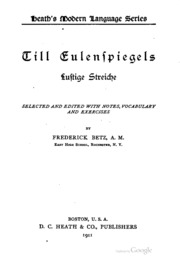 Til Enlenspiegels lustige streiche, selected and ed., with notes, vocabulary and exercises