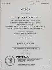 The T. James Clarke Sale (pg. 23)