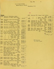 T. James Clarke Invoices from B.G. Johnson, January 7, 1946, to September 4, 1946