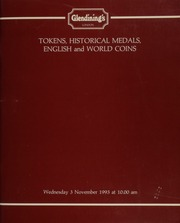 Tokens, historical medals, and English and world coins, [including] a collection of 18th century halfpenny, 19th century silver shilling, and countermarked tokens, Part I,  ... [11/03/1993]
