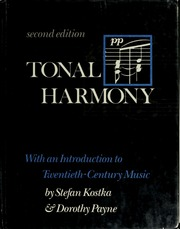 Tonal harmony with an introduction to twentieth century music tonal harmony with an introduction to twentieth century music kostka stefan m free download borrow and streaming internet archive fandeluxe Gallery