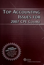 Top federal tax issues for 2006 cpe course cch incorporated free borrow top accounting issues for 2007 cpe course fandeluxe Images