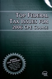 Top federal tax issues for 2007 cpe course cch incorporated free borrow top federal tax issues for 2006 cpe course fandeluxe Images