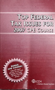 Top federal tax issues for 2007 cpe course cch incorporated free top federal tax issues for 2007 cpe course cch incorporated free download amp streaming internet archive fandeluxe Images