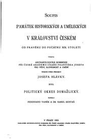 Vol 17-18: Topographie der historischen und Kunst-Denkmale im Königreiche Böhmen : von der Urzeit bis zum Anfange des XIX. Jahrhundertes