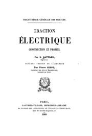 Traction électrique, construction et projets