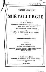 Vol 5: Traité complet de métallurgie