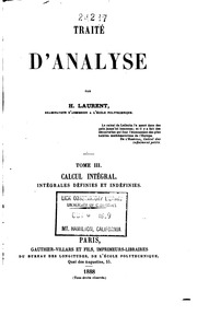 Vol 3: Traité d-analyse