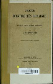 Traité d-antiquités romaines considérées principalement sous le point de vue politique