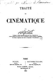 Traité de cinématique