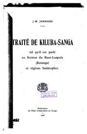 Traité de kiluba-sanga