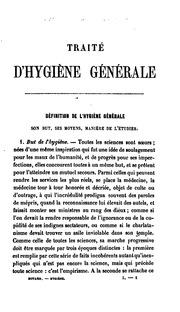 Traité d-hygiène générale