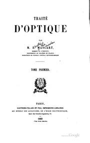Vol 1: Traité d-optique