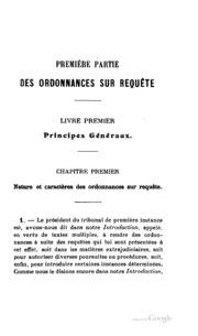 Traité théorique et pratique des ordonnances sur requête et des référés: d ...