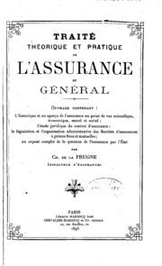Traité théorique et pratique de l-assurance en général ..