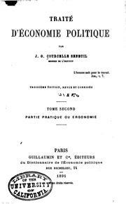 Traité théorique et pratique d-économie politique