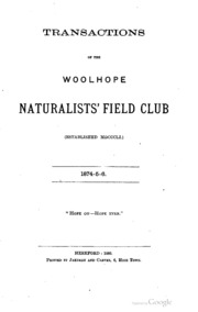 41b1c39e992d4 Transactions of the Woolhope Naturalists  Field Club   Woolhope Naturalists   Field Club