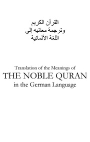 translation of the meaning of the holy quran in deutsch and